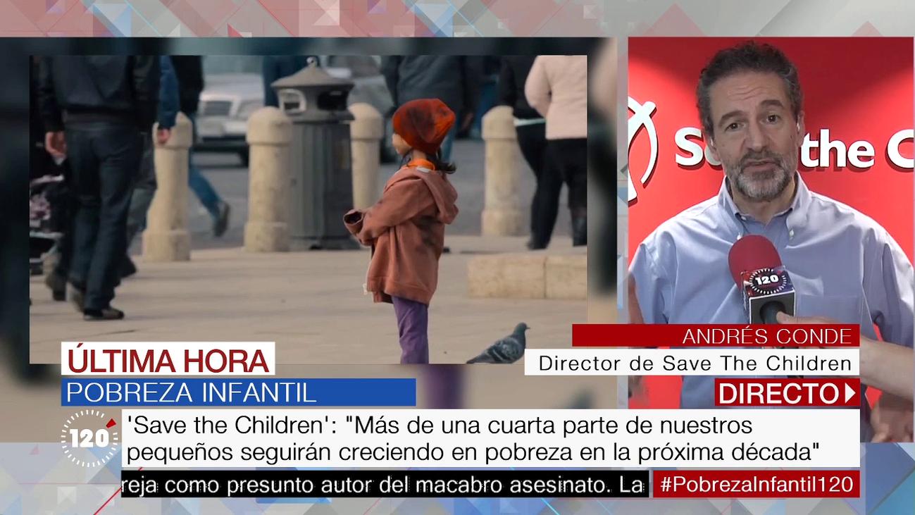 Uno de cada cuatro niños españoles será pobre en 2030, según 'Save the Children'