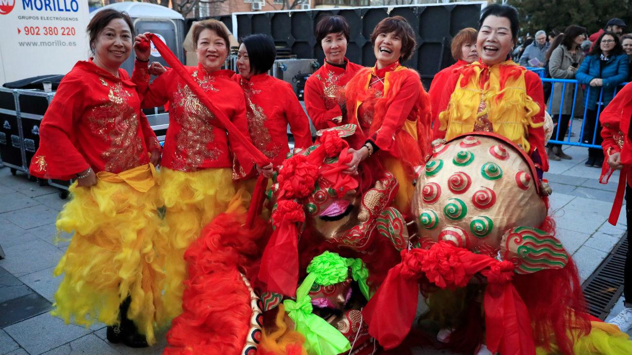 Usera se vuelca con el Año Nuevo Chino