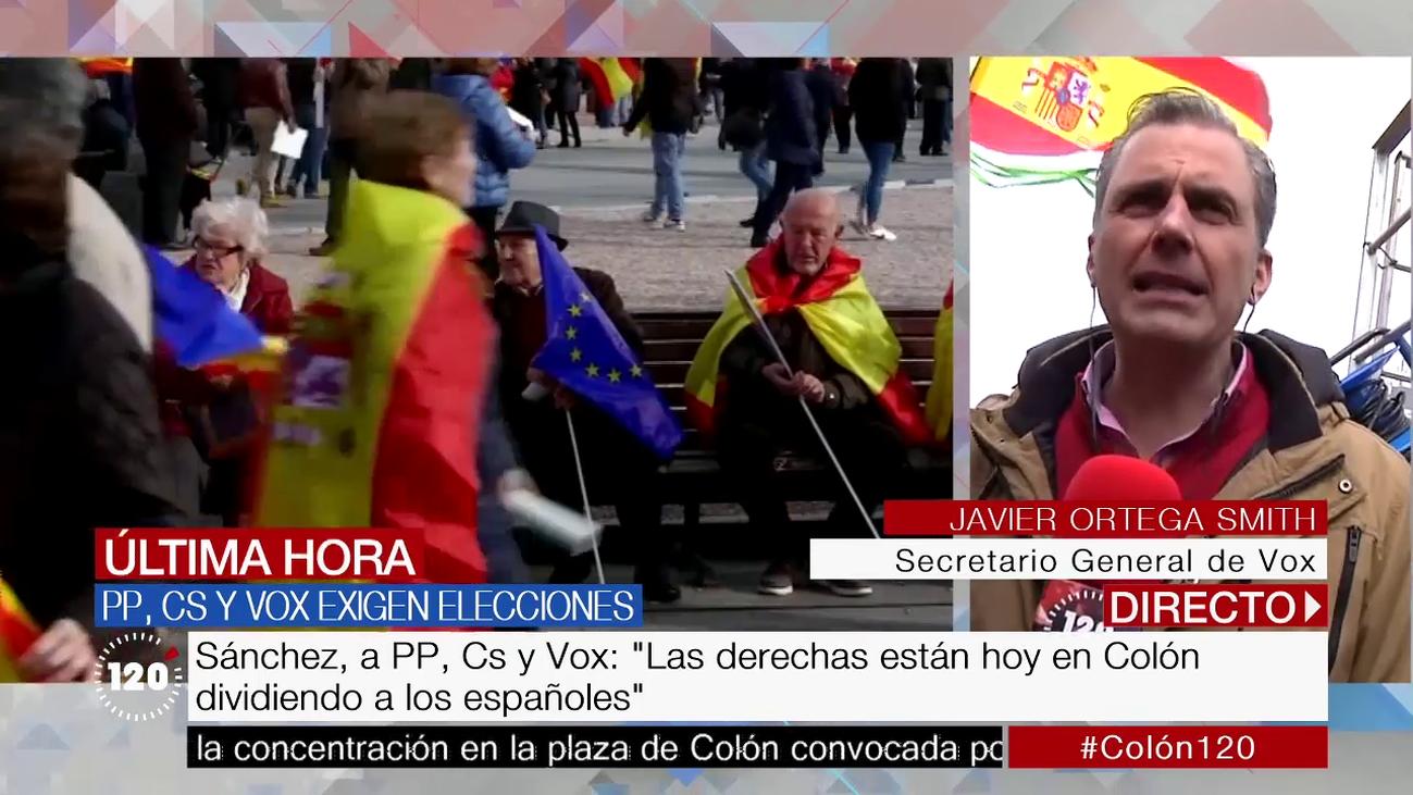 """Ortega Smith: """"Sánchez está traicionando la voluntad de la mayoría de los españoles"""""""