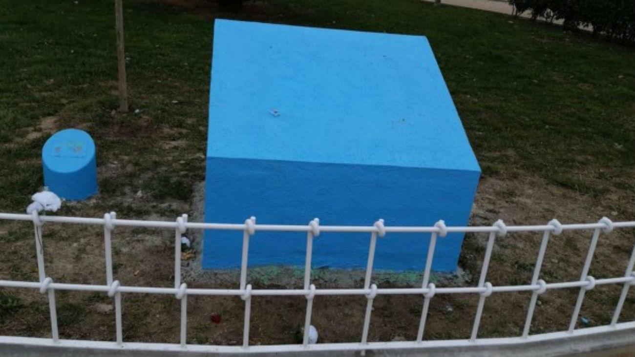Roban las placas del monolito en memoria a Sandra Palo en Getafe