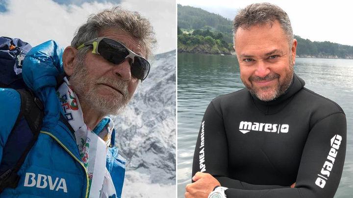 Carlos Soria y Karlos Simón, dos aventureros por tierra, mar y aire