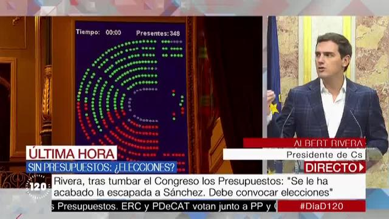 """Albert Rivera: """"Entre el PP y el PSOE los españoles no pueden ir a las urnas a votar"""""""