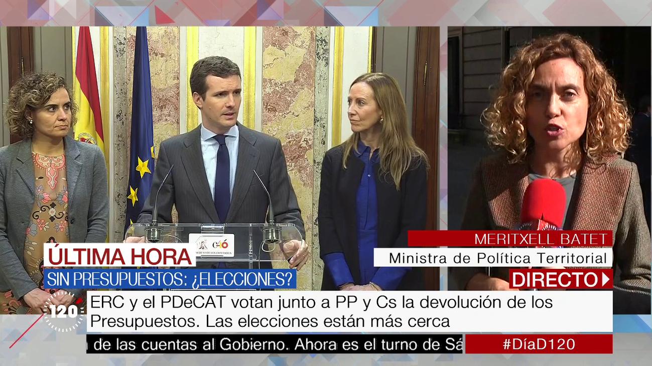 """La ministra Batet: """"La derecha sólo ha pensado en clave electoral"""""""