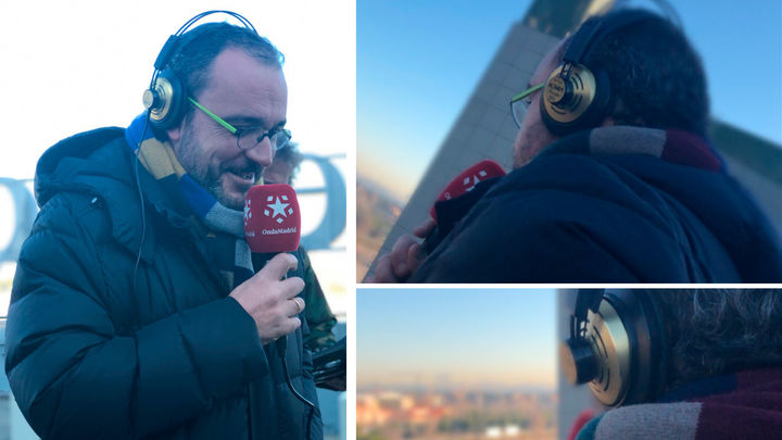 Juan Pablo Colmenarejo despide el programa desde la azotea del edificio de Telemadrid