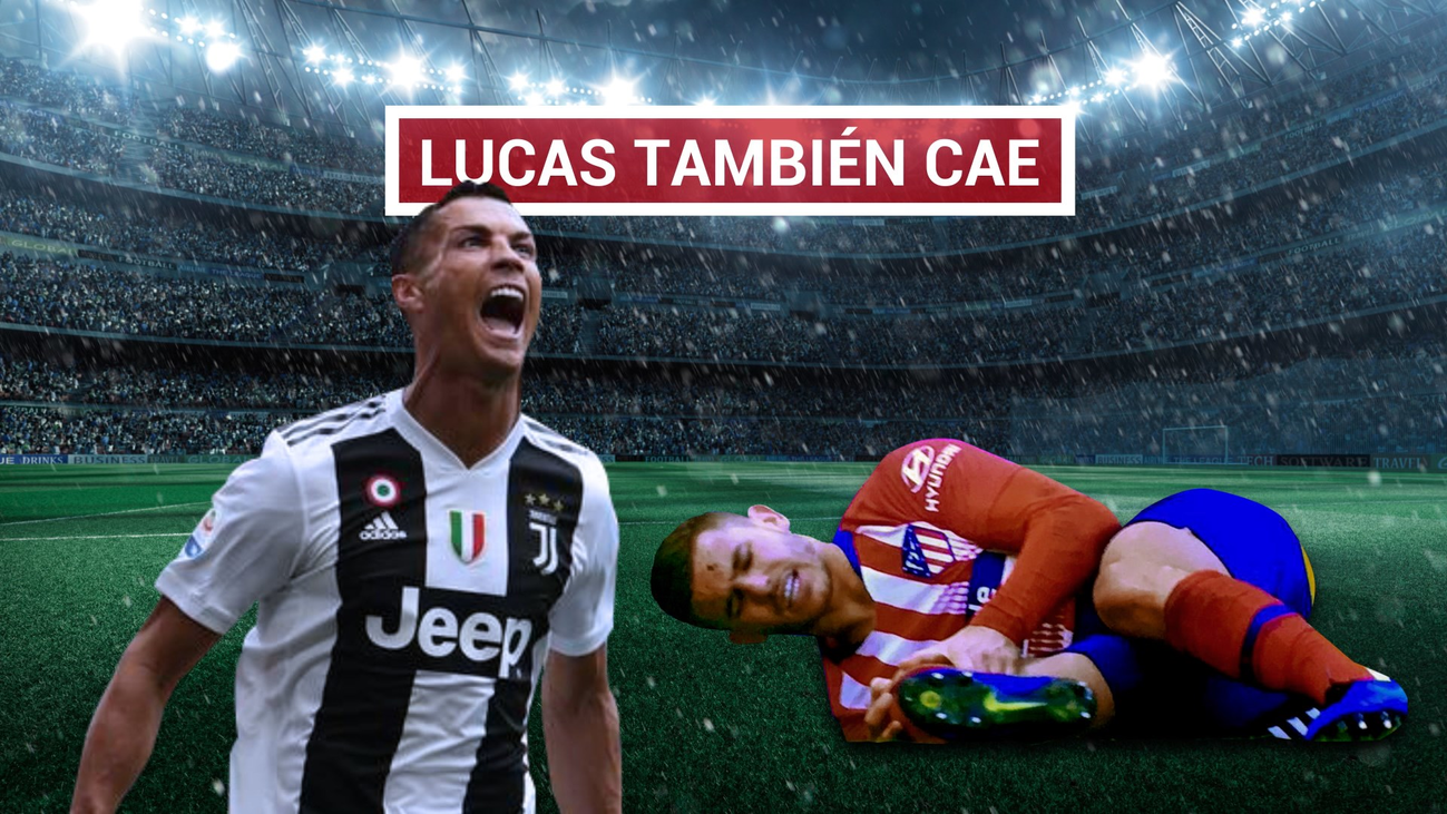 Lucas, lesionado en la rodilla derecha