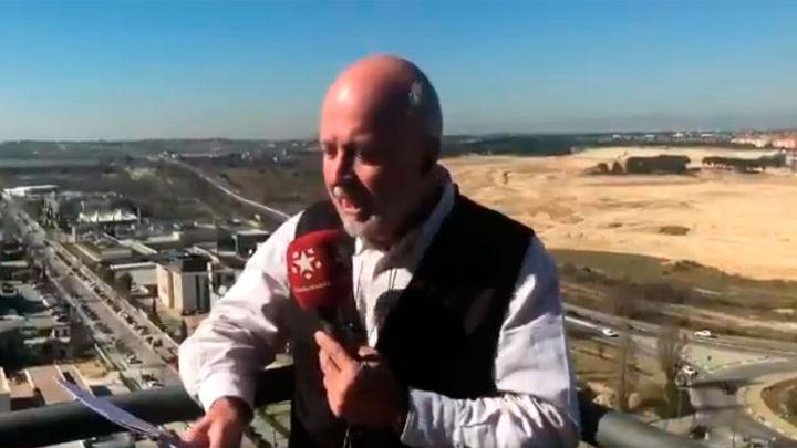 Las Noticias de las Dos de Onda Madrid arrancan desde lo alto de Telemadrid