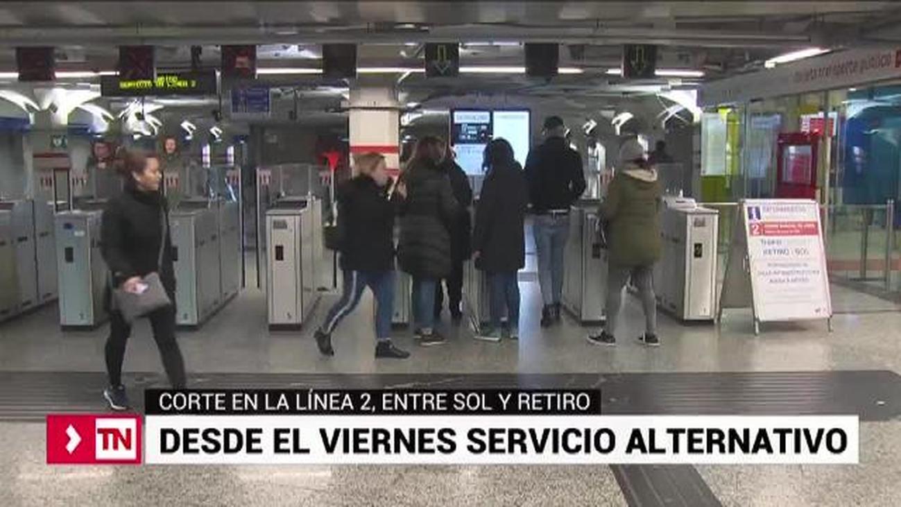 Llega el servicio de bus alternativo para el tramo de Metro cortado en la línea 2