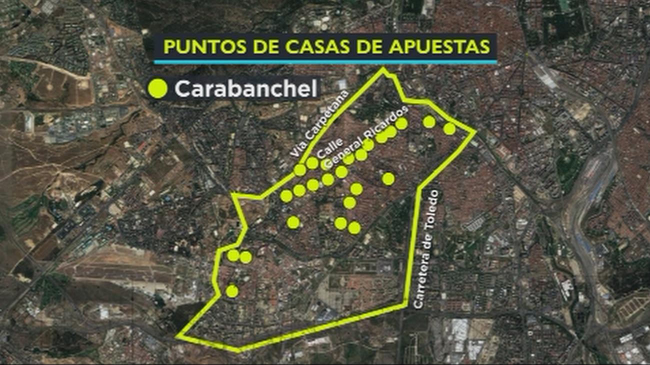 Carabanchel, el distrito con más casas de apuestas de Madrid