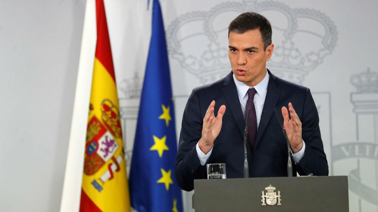 Pedro Sánchez anuncia que las elecciones generales serán el 28 de abril