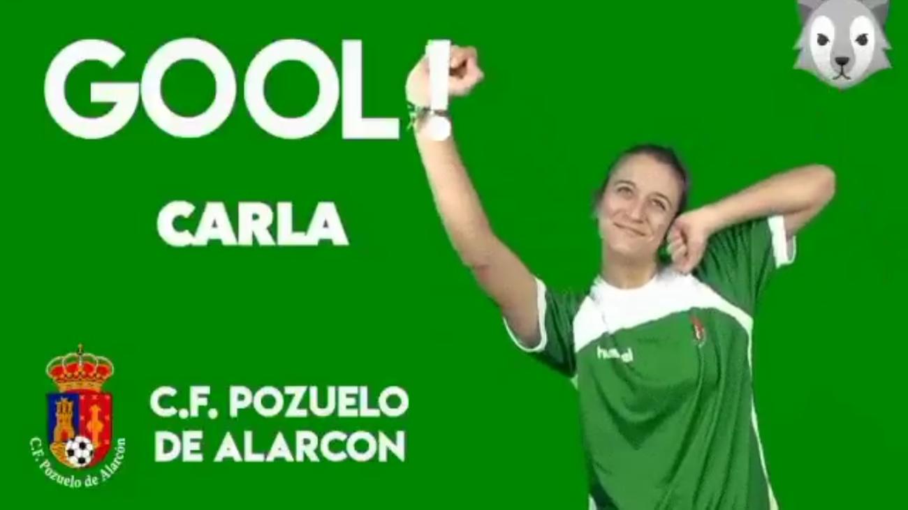 Gol de Carla del Pozuelo, al Rayo B (0-2)