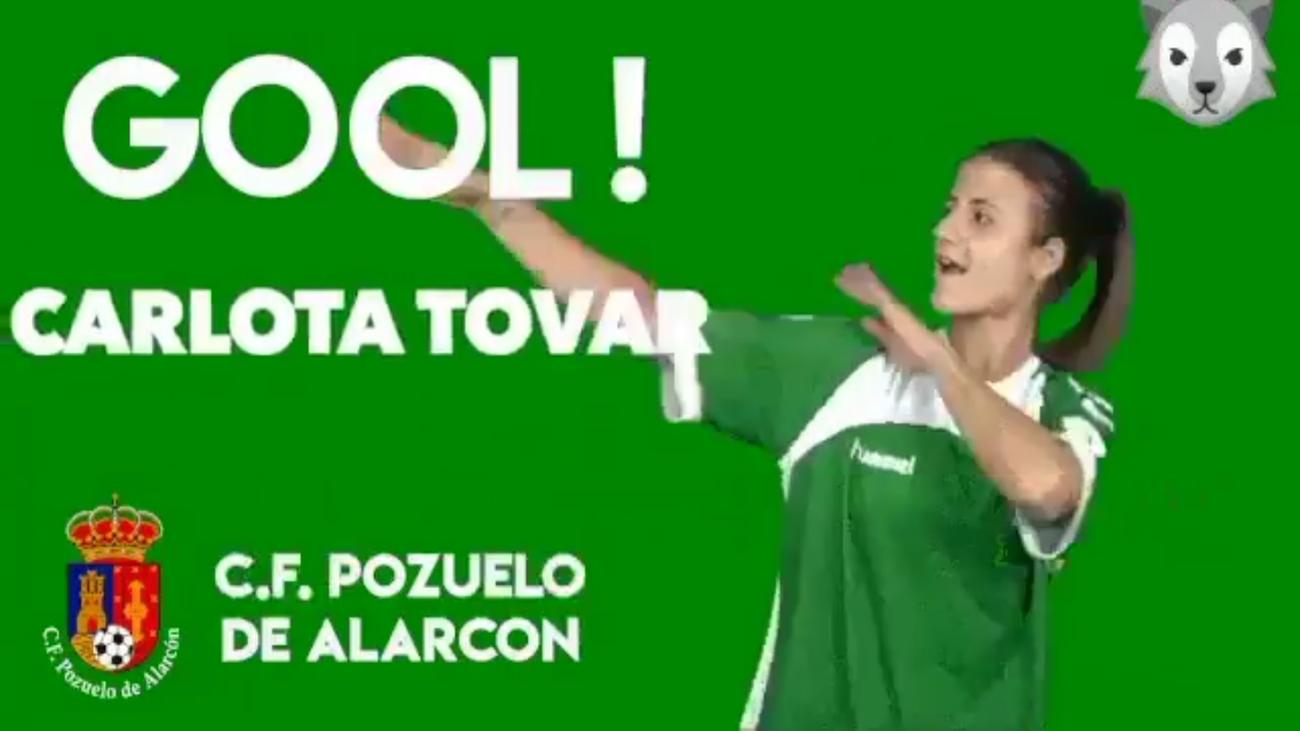 Gol de Carlota, del Pozuelo, al Rayo B (0-3)