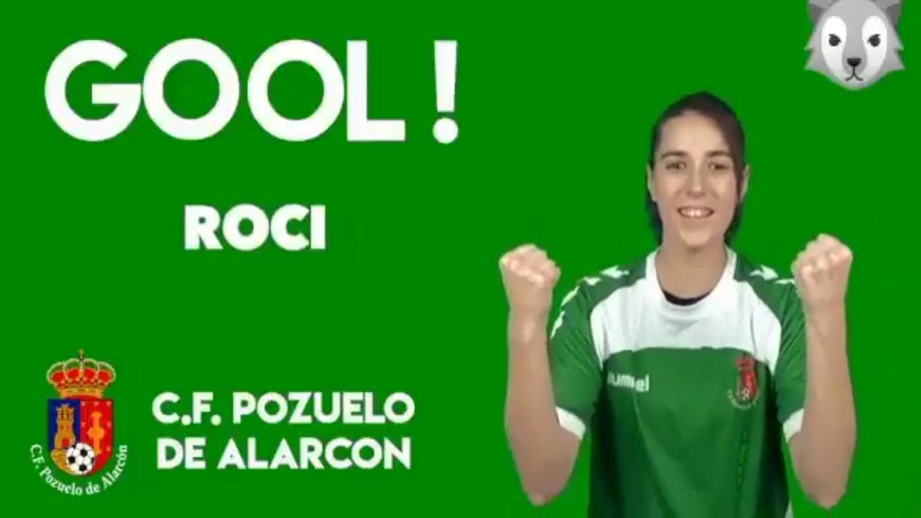 Gol de Roci, del Pozuelo, al Rayo B (0-1)