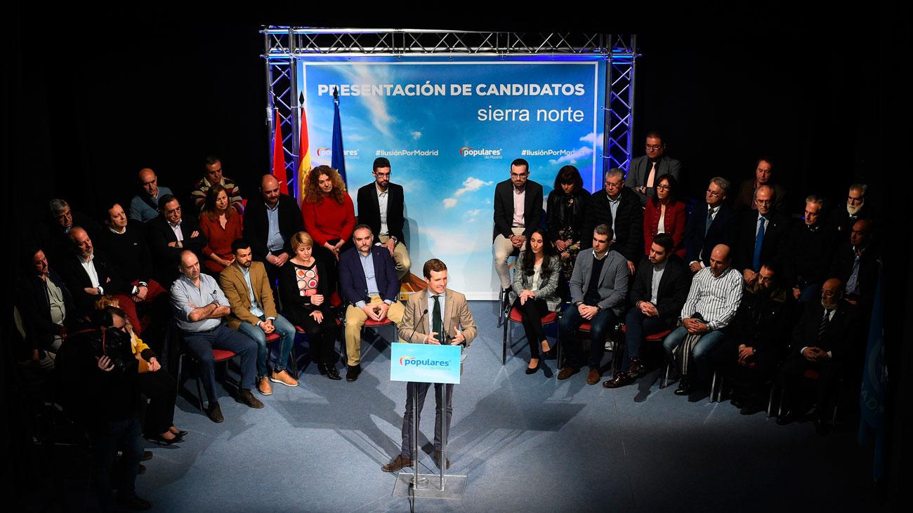 El PP madrileño presenta a sus 42 candidatos de la Sierra Norte