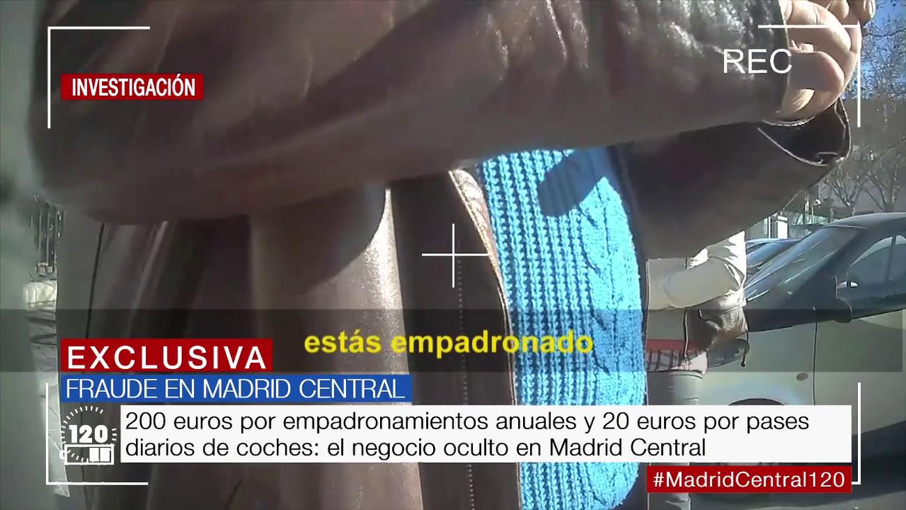 120 minutos caza a un vecino vendiendo ilegalmente empadronamientos en Madrid Central