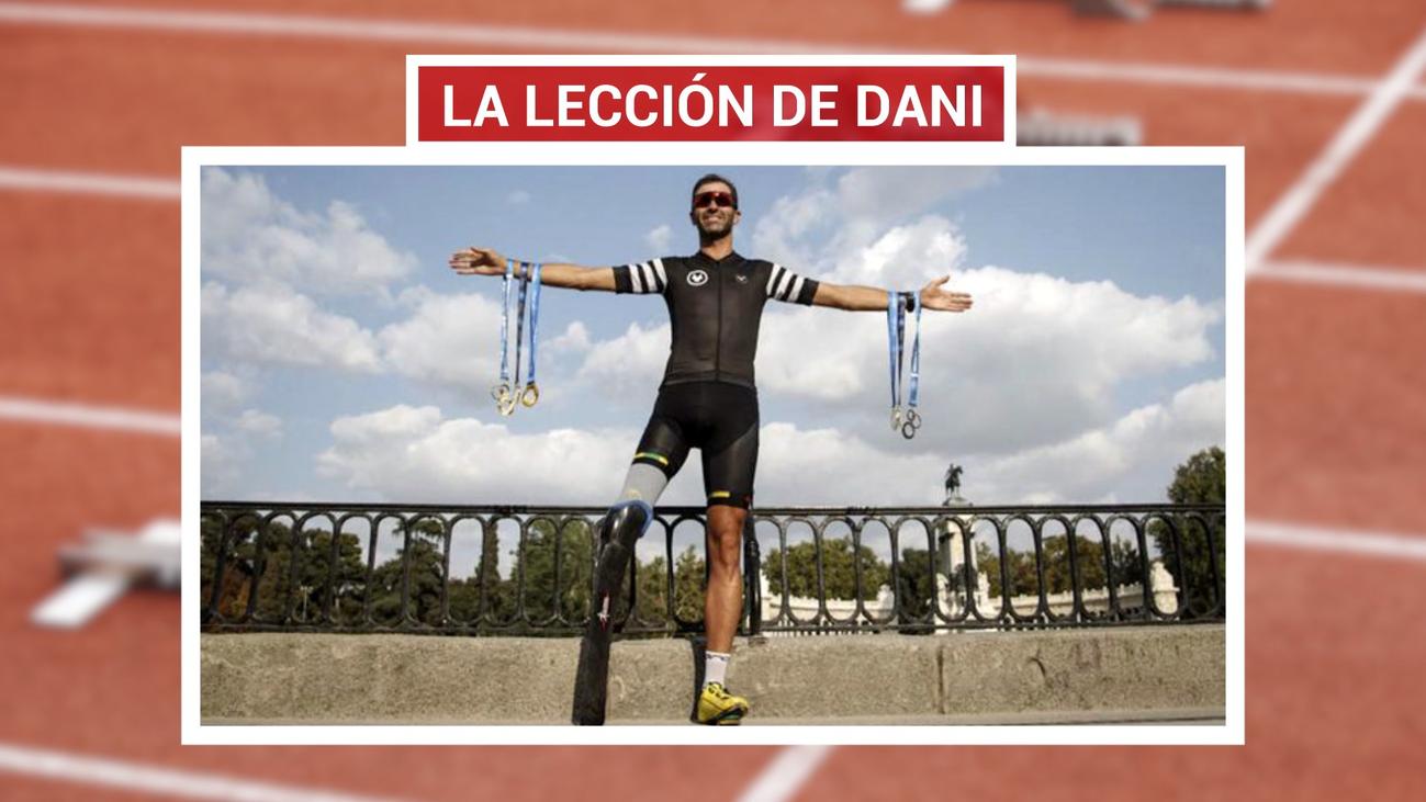 Dani Molina, triatleta sin una pierna
