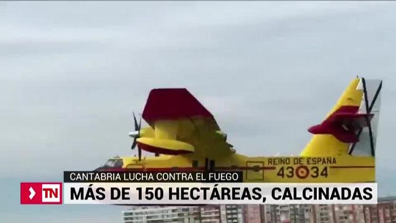 Cerca de 30 incendios permanecen activos en Cantabria
