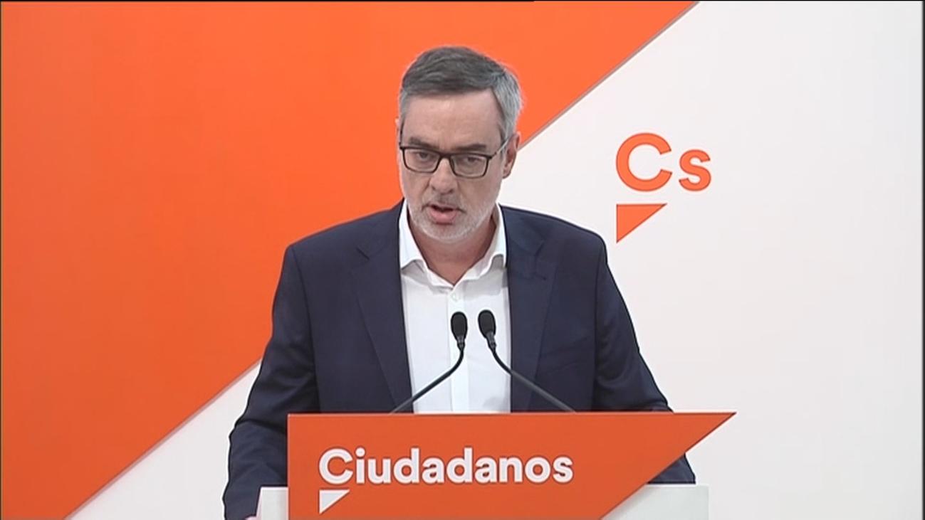 """Ciudadanos no pactará """"ni con el PSOE ni con Sánchez"""" tras las generales"""