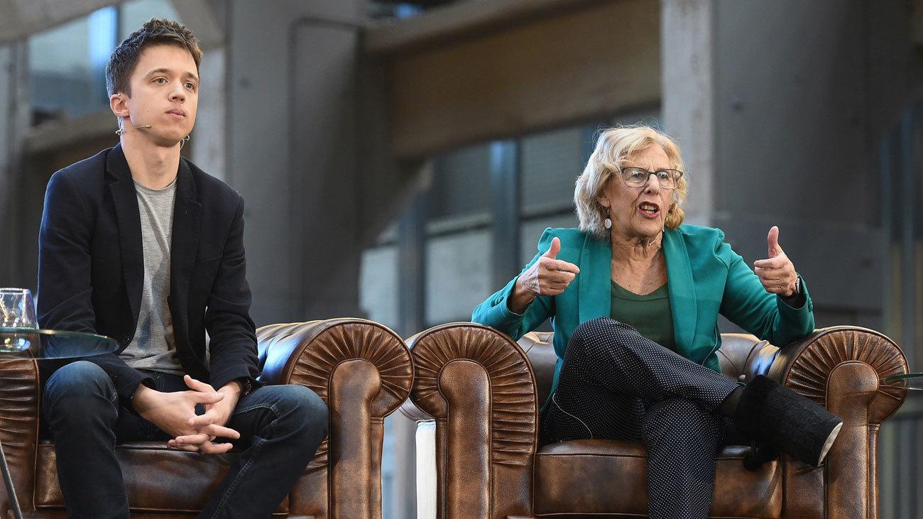 Manuela Carmena e Íñigo Errejón celebran su primer acto público juntos de Más Madrid