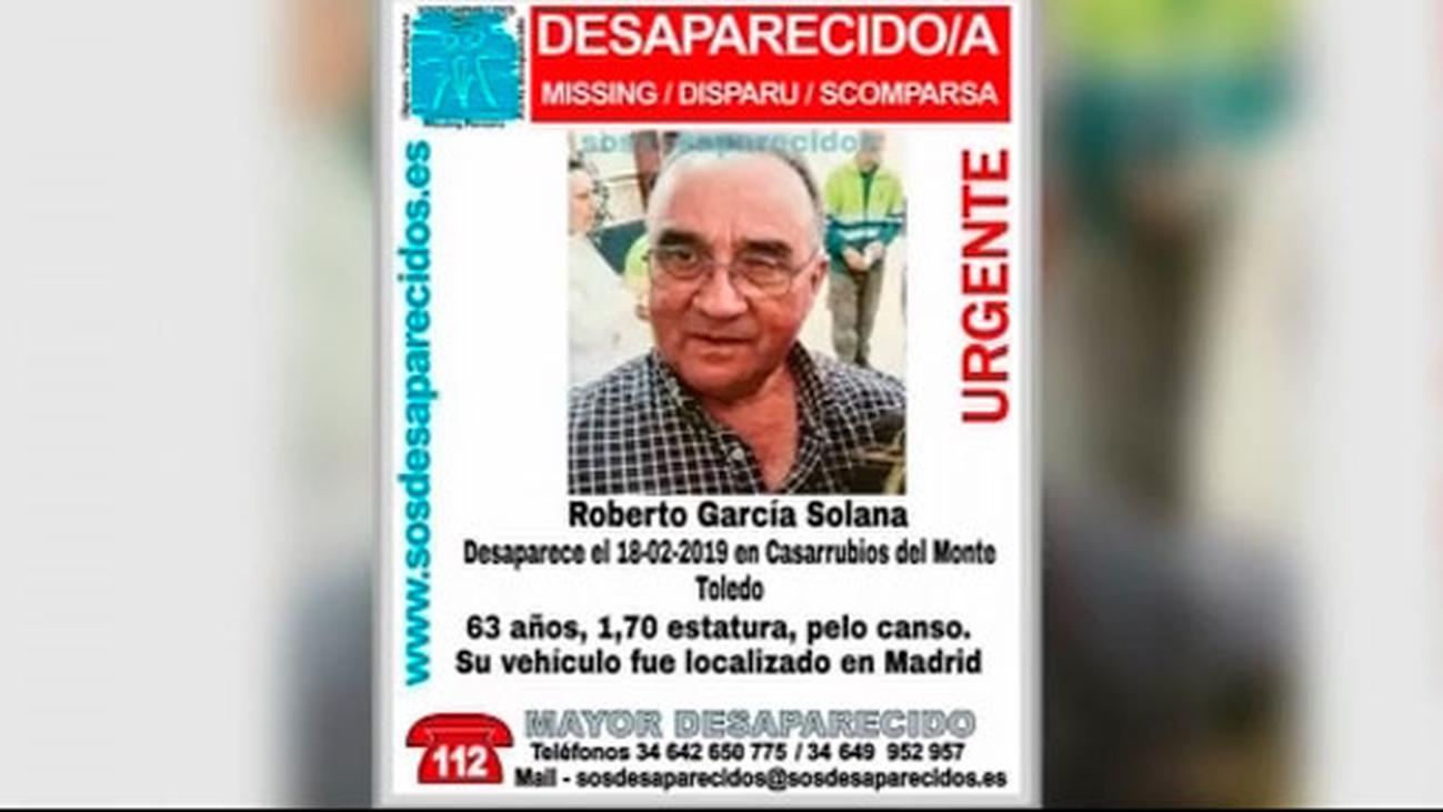 Temen que Roberto, el hombre desaparecido de Casarrubios, haya sido víctima de un robo