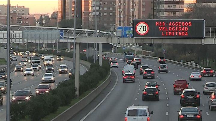 Velocidad a 70 km/h en M-30 y accesos para este viernes en Madrid