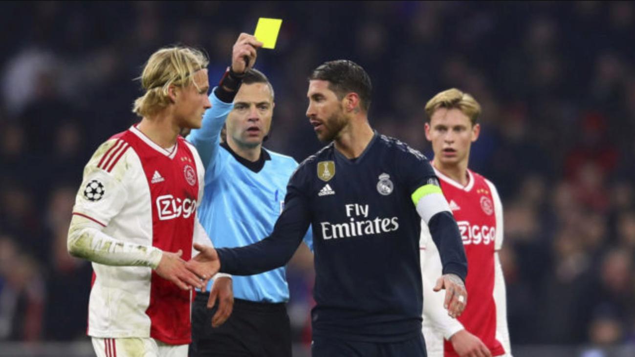 La UEFA expedienta a Ramos por forzar la amarilla ante el Ajax