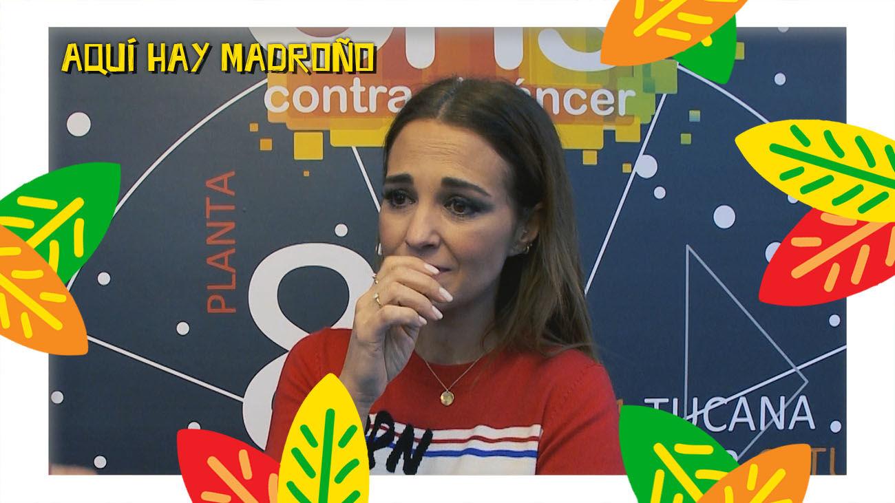 Paula Echevarría no puede contener las lágrimas en su visita a unos niños con cáncer