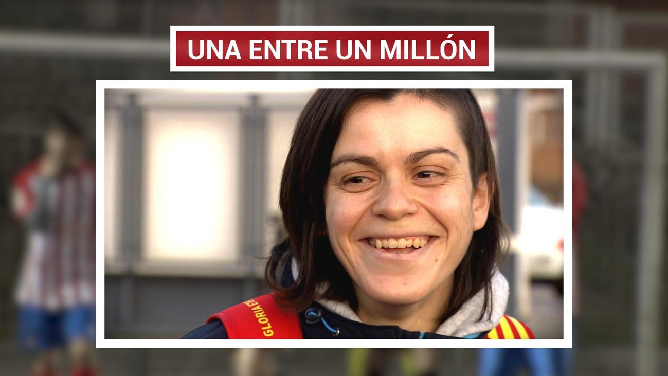 Marta, jugadora del Rayo Vallecano Genuine, es única