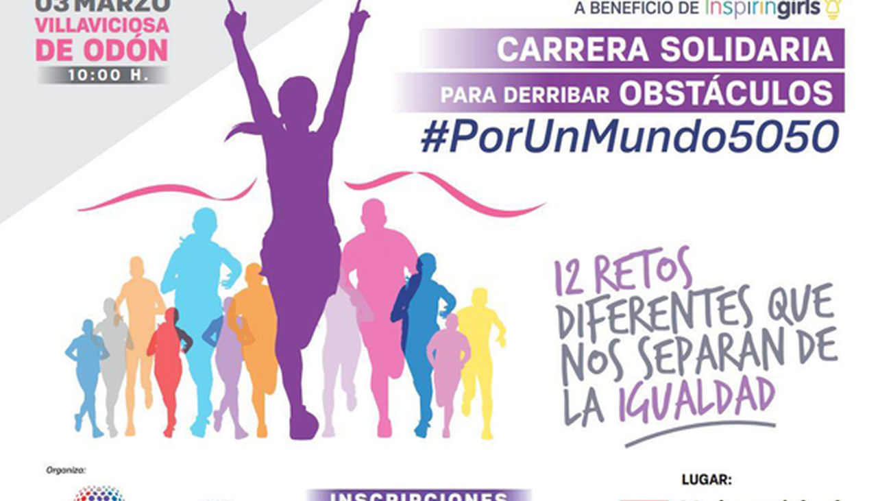 Gloria Lomana ha organizado la Primera Carrera Solidaria #PorUnMundo5050