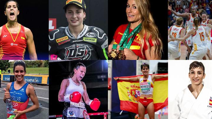Un año en el que el deporte femenino español conquistó el mundo