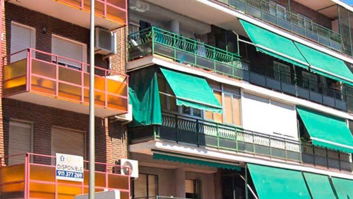 Edificio de la calle Eugenia de Montijo, en Carabanchel, el distrito donde más ha aumentado el precio del alquiler en los últimos cuatro años