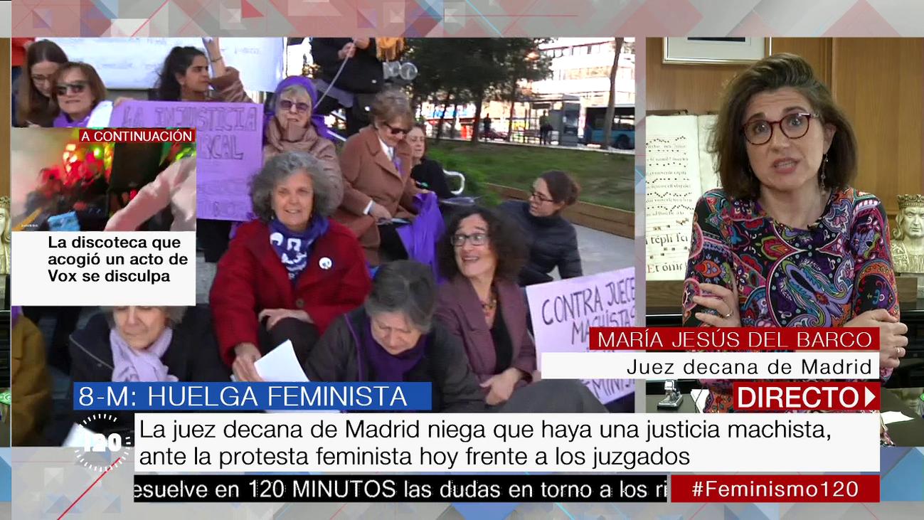 La jueza decana de Madrid niega que haya justicia machista en España