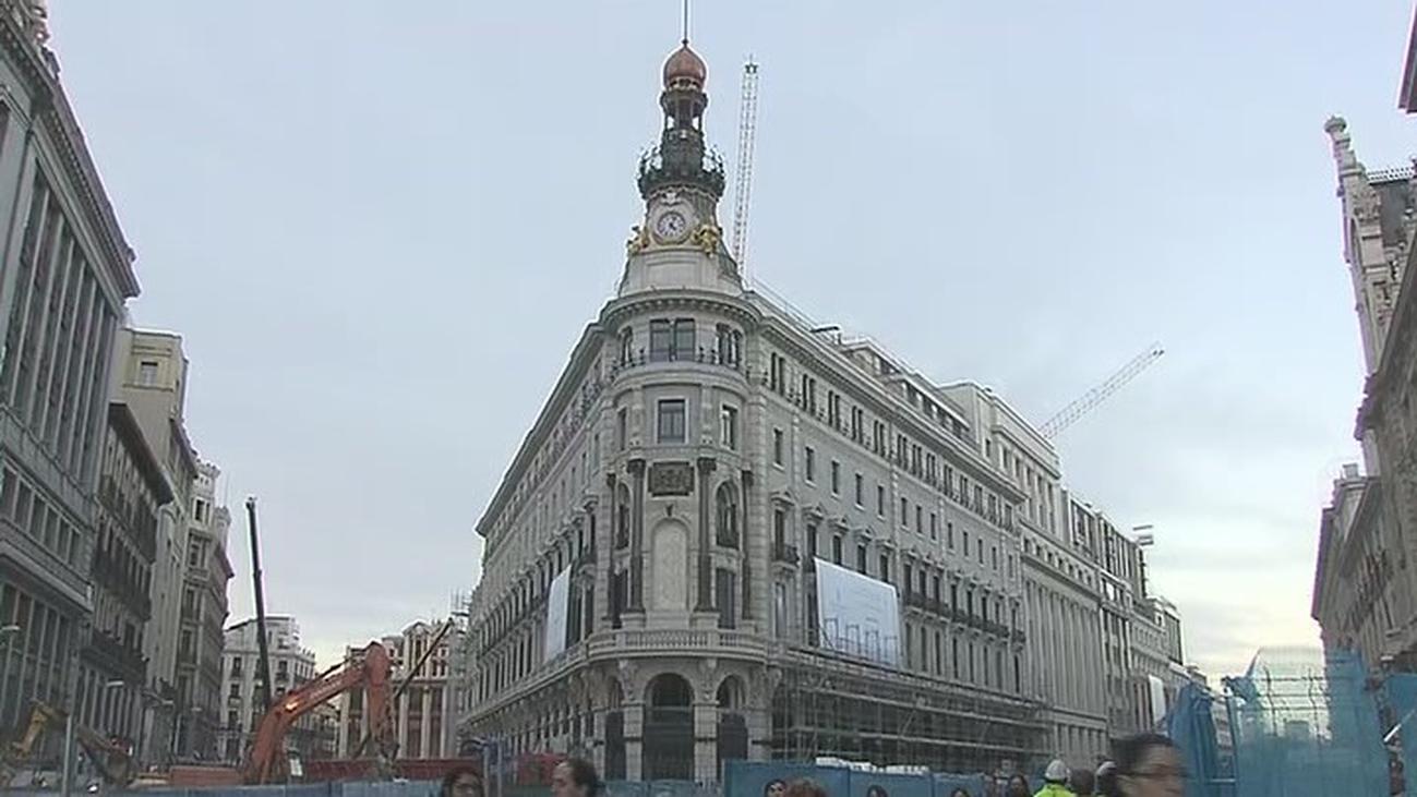 Descubierta la fachada del edificio del complejo Canalejas