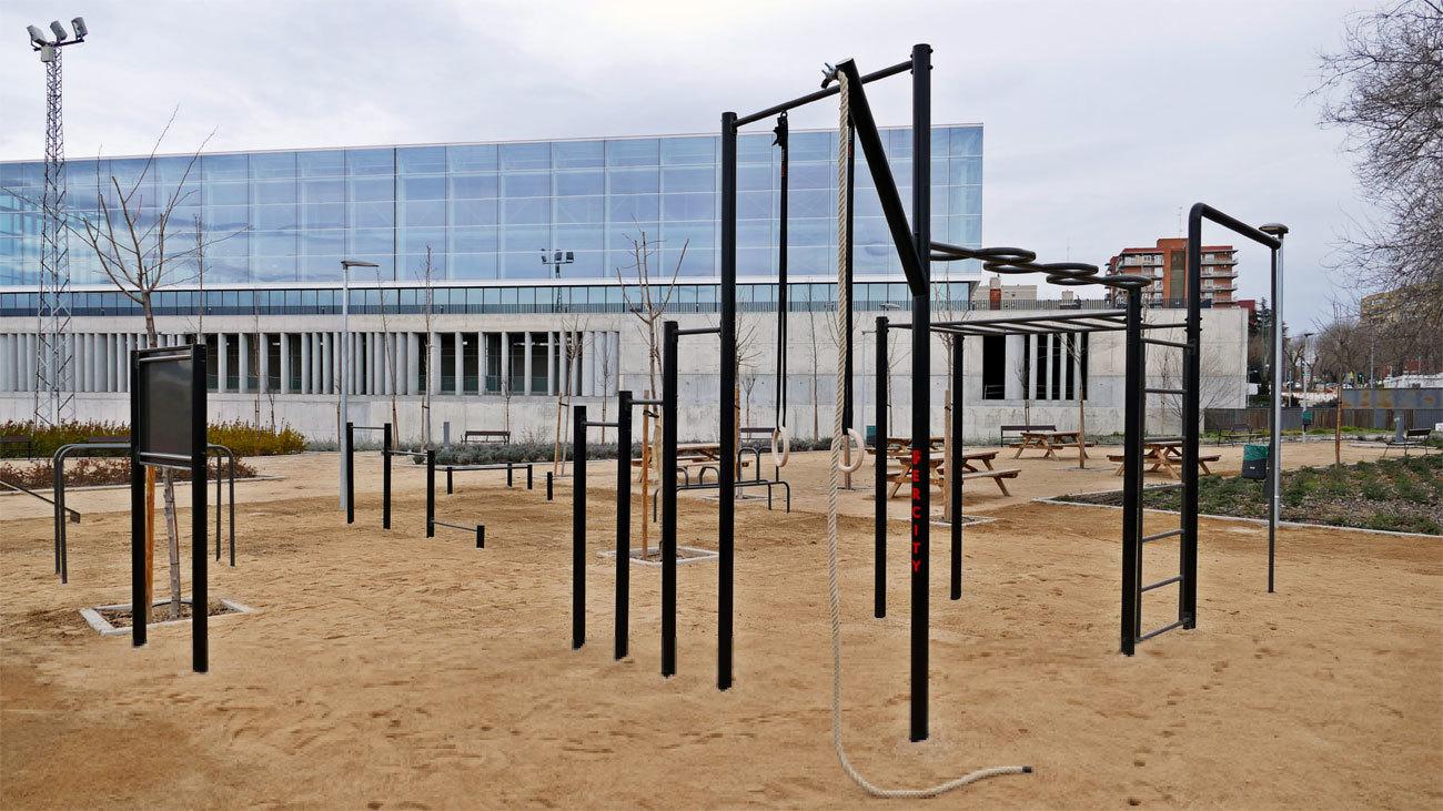 Imagen de parte de las instalaciones del polideportivo municipal 'Andrés Torrejón' de Móstoles