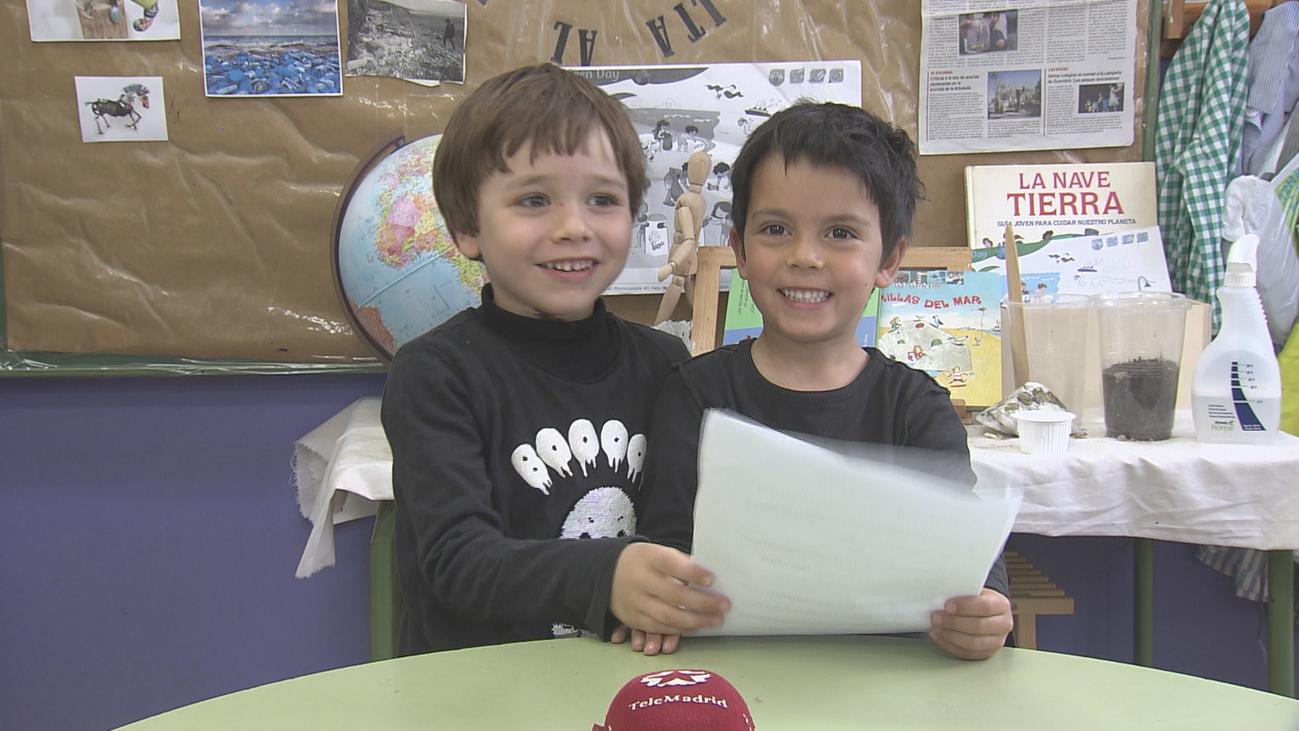 Niños de un colegio de Galapagar piden en una carta salvar el planeta y Macron les contesta