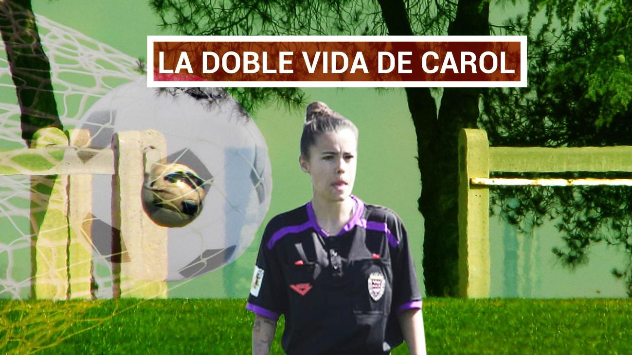 Carol, jugadora del Madrid CCF y árbitro