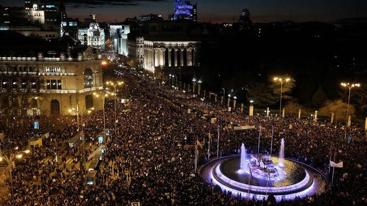 La huelga feminista del 8-M, minuto a minuto