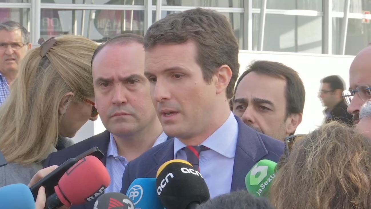 """Casado afirma que Sánchez tiene """"miedo"""" a un debate a solas con él"""