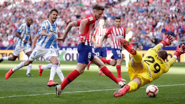 1-0. Saúl resuelve ante el Leganés
