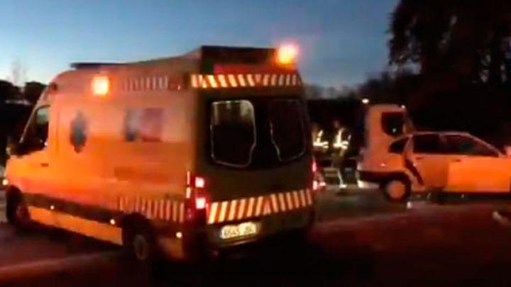 Tres mujeres heridas, una grave, en un accidente en la M-600 de El Escorial