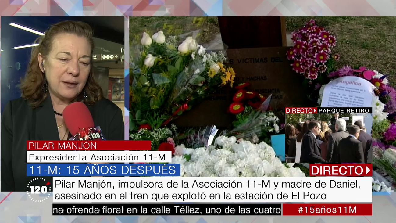 """Pilar Manjón,impulsora de la Asociación 11-M: """"Es un día de memoria y de tristeza"""""""