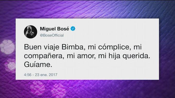 Miguel Bosé se despide de Bimba en las redes sociales