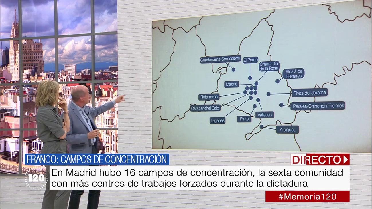 Franco creó 296 campos de concentración en España, 16 en Madrid