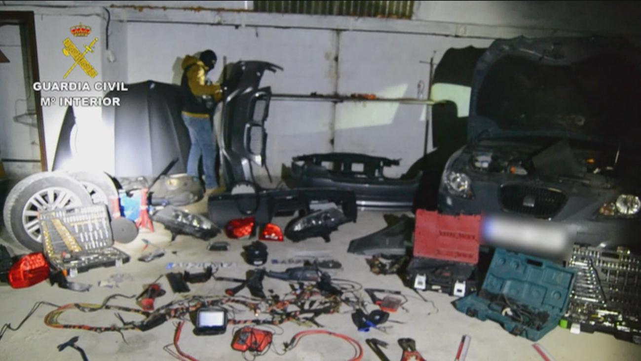Cae en Madrid una banda especializada en robo y desguace de coches con 22 detenidos