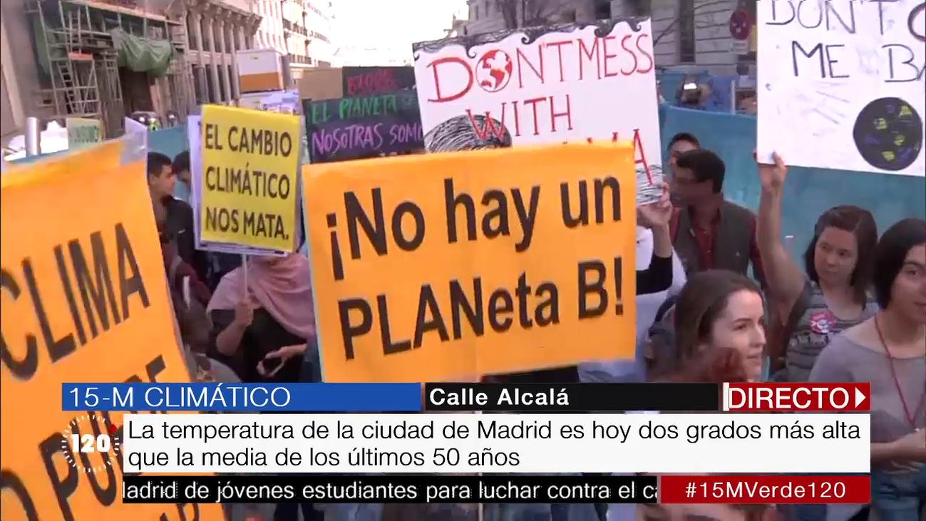 El cambio climático moviliza a los estudiantes españoles