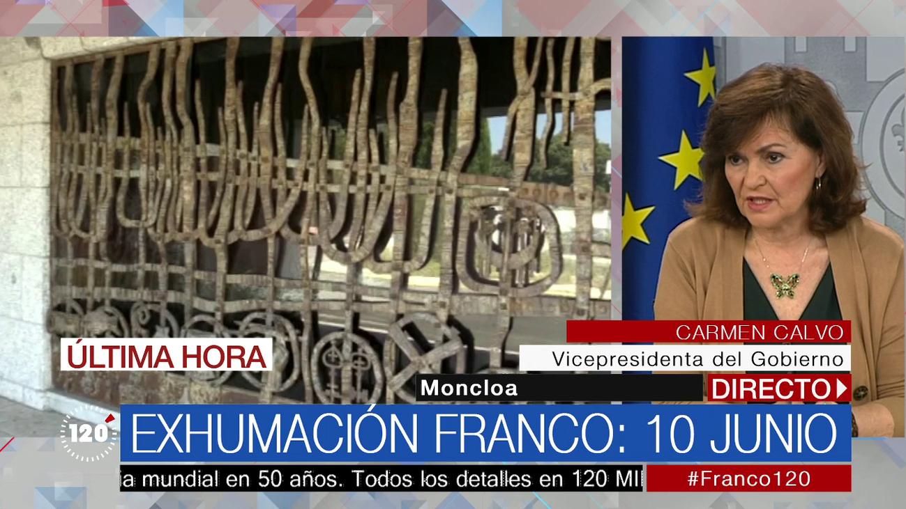 La exhumación de Franco será el próximo 10 de junio