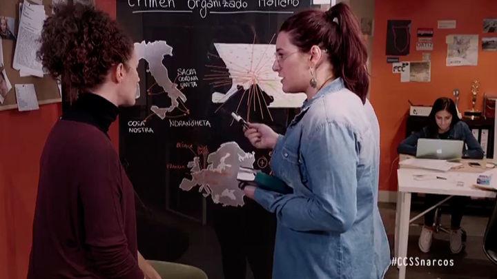 Raquel Riaño y Agustina Pozzi, en un momento de la investigación