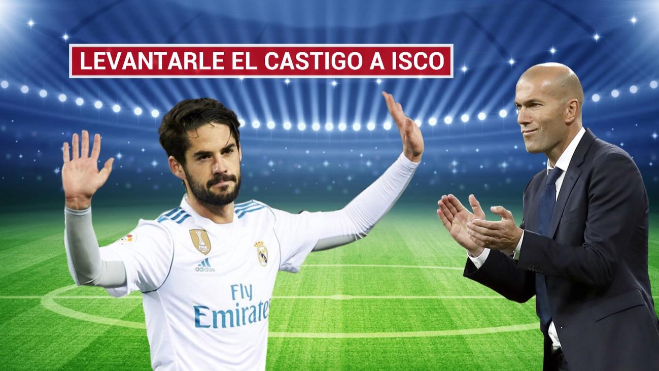 """Zidane: """"Voy a contar con Isco y con todos los demás"""""""