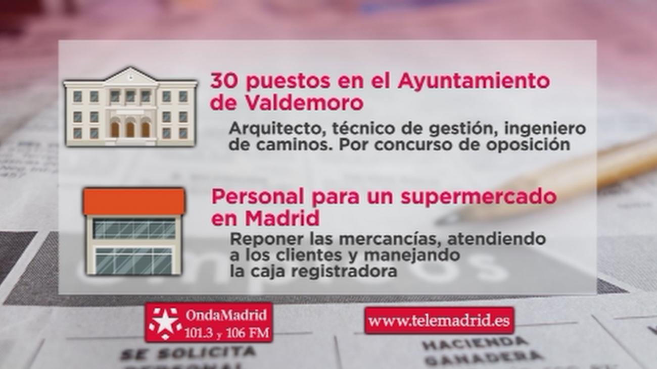 Se busca personal para trabajar en un supermercado de Madrid capital y en el Ayuntamiento de Valdemoro