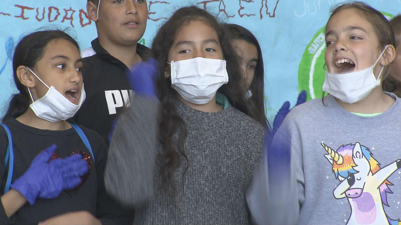 Los niños de Orcasur, ejemplo en la lucha contra el cambio climático
