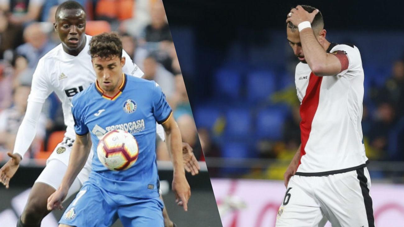 Valencia-Getafe y Villarreal-Rayo Vallecano